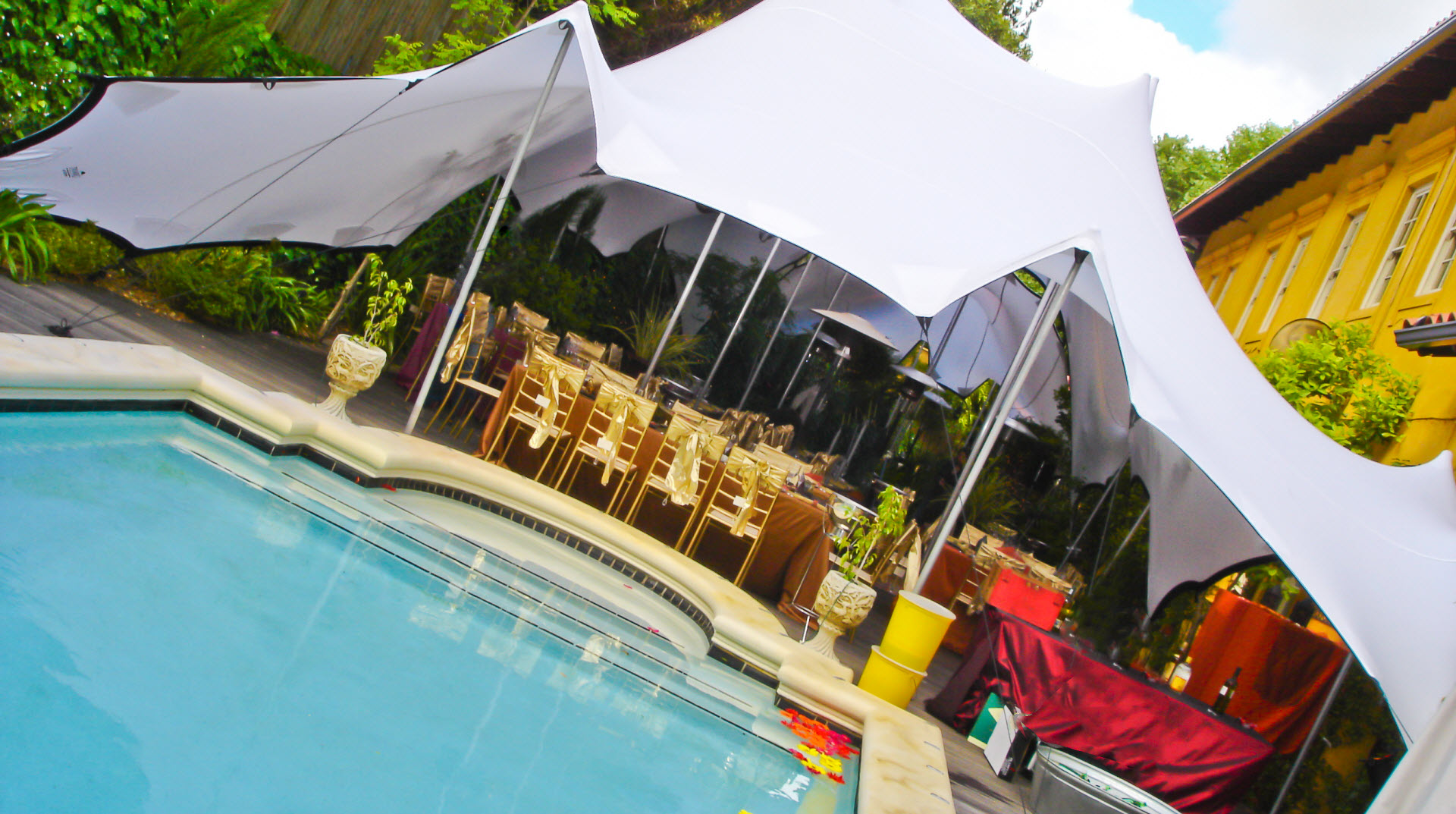 Marquee Hire Sunshine Coast Poolside Marquee